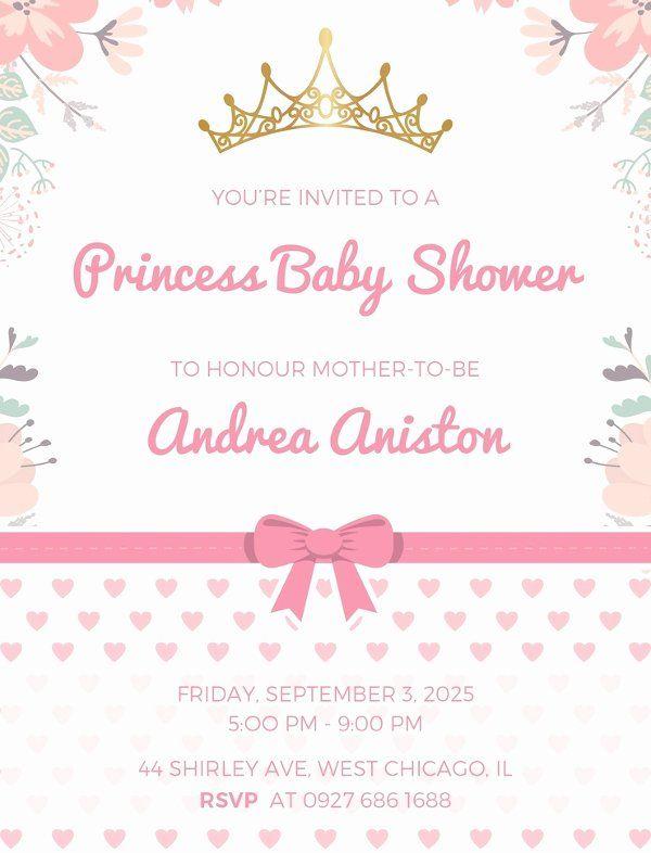 Baby Girl Invitation Template Fresh 22 Best Baby Shower Invitation Free Baby Shower Invitations Baby Shower Invitation Cards Printable Baby Shower Invitations
