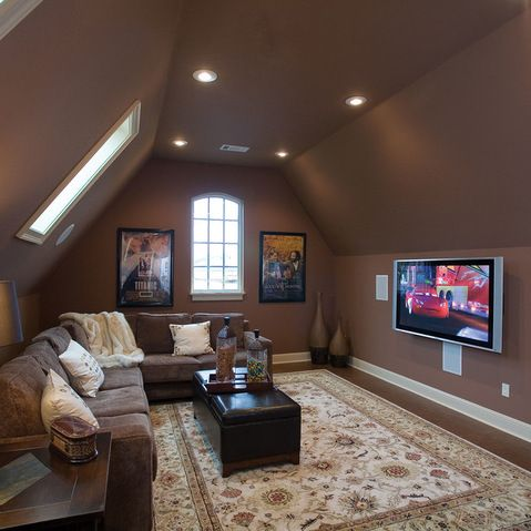 bonus room design ideas pictures remodel and decor page 2 - Home Media Room Designs