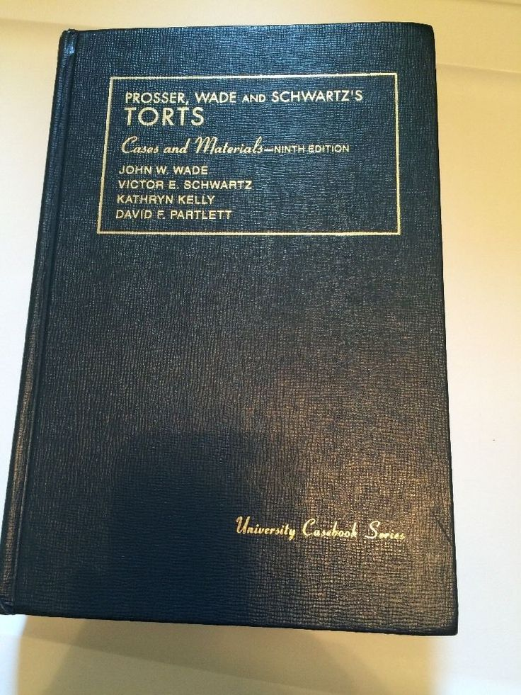 Prosser Wade & Schwartz's TORTS Cases & Materials 9th.Edition leather cover #WorkbookStudyGuide