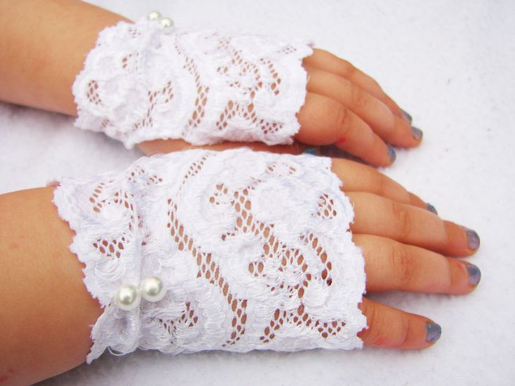 gloves for little girl tea parties | fingerless_gloves_Easter_white_lace_pink_gloves_girls_pearls_tea_party ...