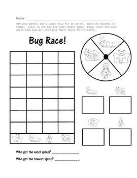 Busy Bugs! Literacy and Math Worksheets Distance Learning