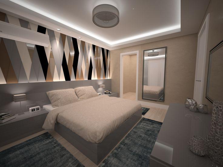 Modern Yatak Odası Tasarımı BF iç mimarlık - Modern Bedroom Design - İstanbul