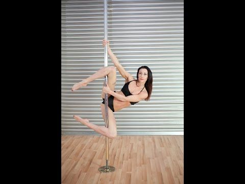 Pole Dancing Lesson: How To Do A intermediate/Advanced Pole Routine With A Step By Step Guide - YouTube