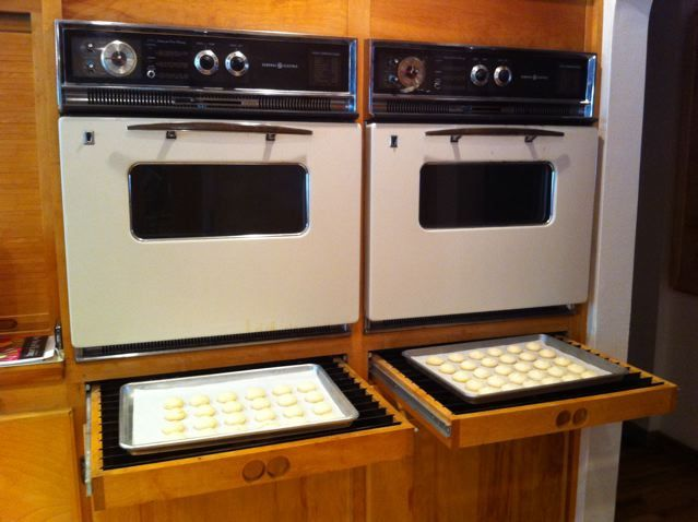 custom pull-out cooling racks from author Greg Patent's kitchen.