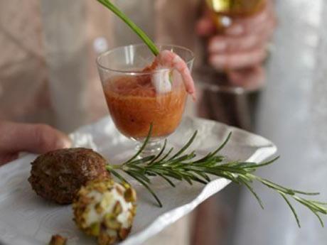 Gazpacho med räkor