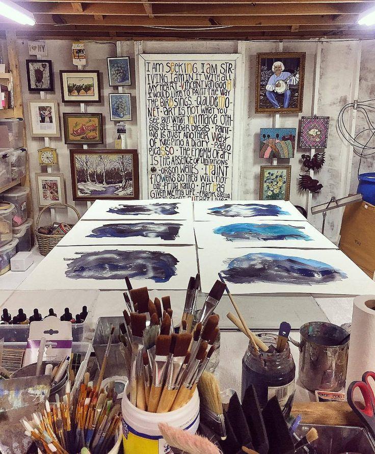 Criando um estúdio de arte – Transformação do estúdio de arte do porão – A Hackshaw   – Atelier-Glück