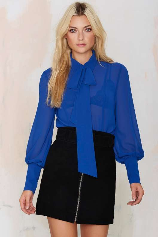 Nasty Gal Mademoiselle Pussy Bow Blouse: