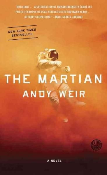 The Martian: A Novel  One astronaut is stranded alone on Mars when his crew flees the planet during a storm. The crew and the rest of the world believed him to be dead, but we follow his story of survival. I loved this book! Couldn't stop reading to see if he makes it!