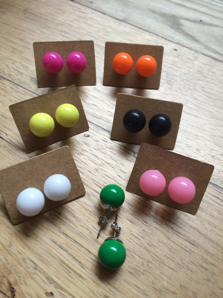 Pastel Stud Earrings.  Perfect accessory! www.shouldntbutmust.com