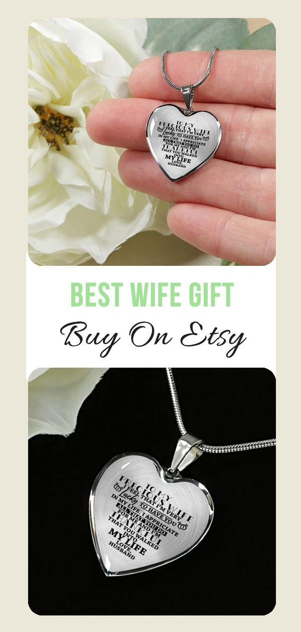 To My Precious Wife I Am Lucky Luxury Heart Shape Necklace Etsy Christmas Gifts For Wife Gifts For My Wife Birthday Gift For Wife