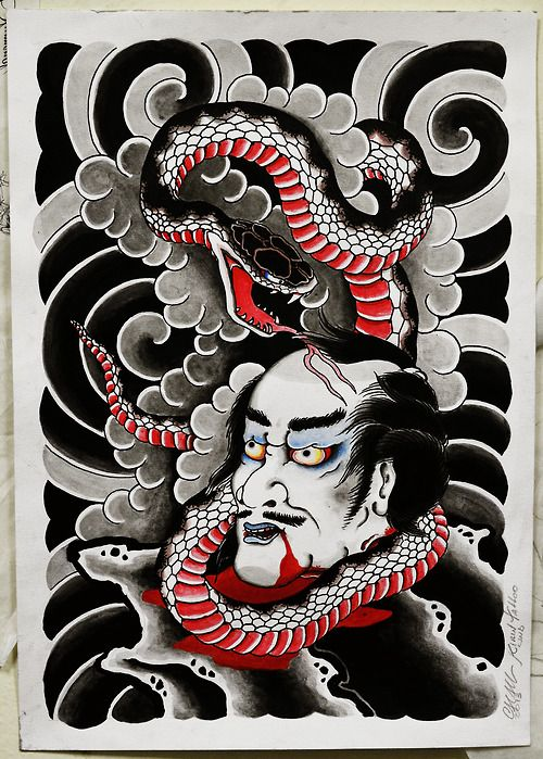 namakubi snake oriental tattoo 39 s pinterest snakes. Black Bedroom Furniture Sets. Home Design Ideas