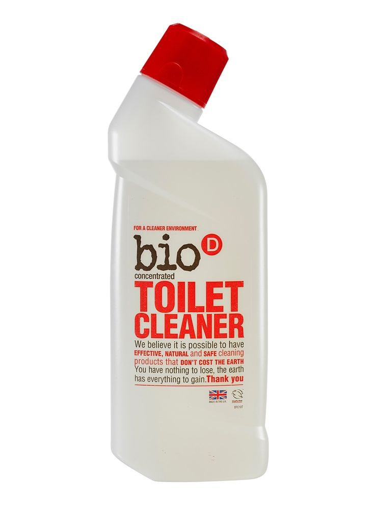 Bio-D Toilet Cleaner 750ml, you can smell the vinegar in this but it cleans brilliantly, if a 22 year old male notices that the loo is cleaner...yet fails to notice all the towels on the floor then it must be good :)