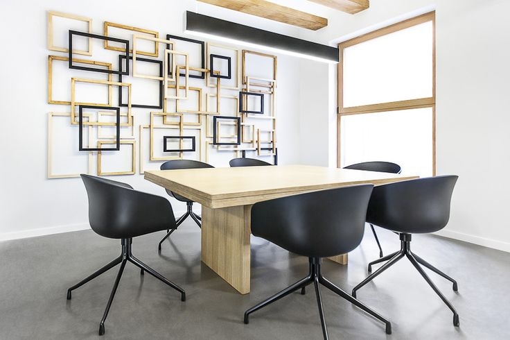 Great looking wood installation in this conference room at the offices of Zapata & Herrera