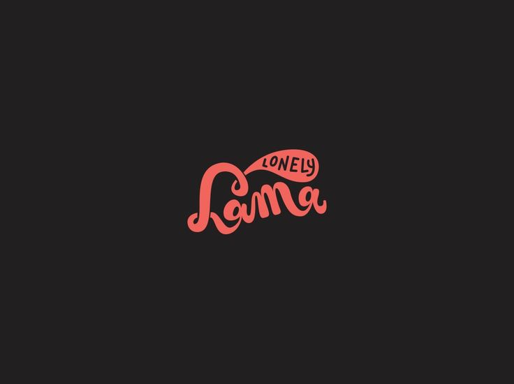 Lonely Lama design - our new logo! We love design and illustration! Check out our website!