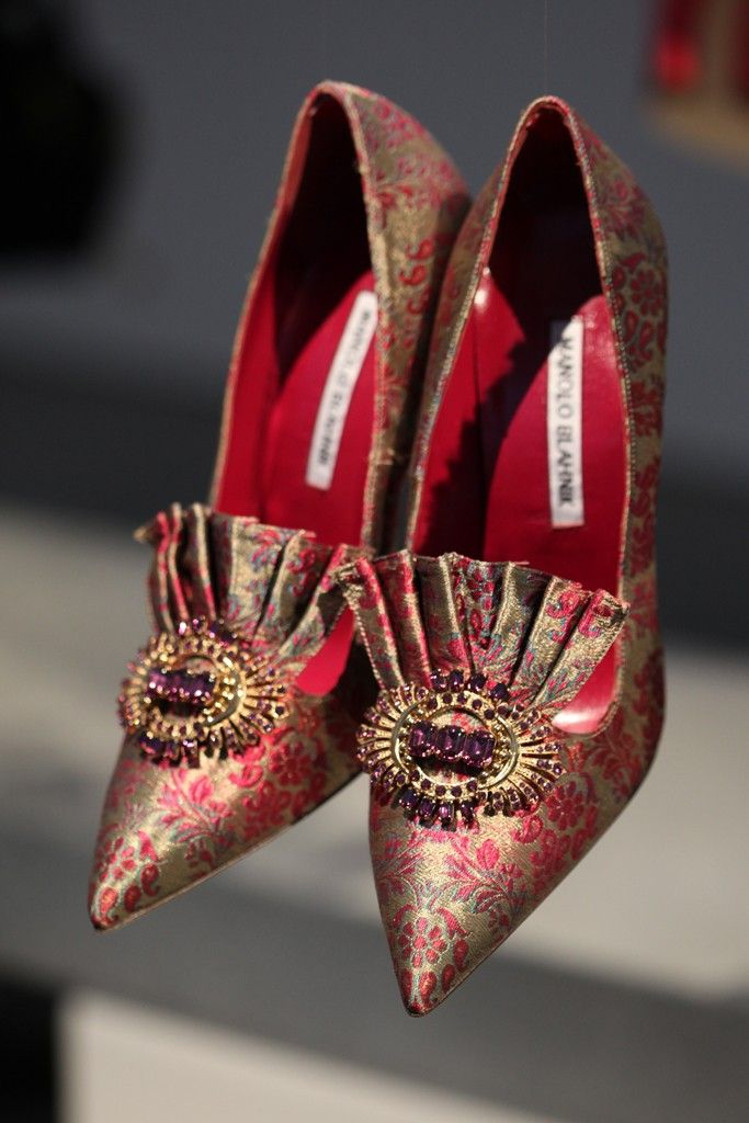 Manolo Blahnik RTW Fall 2014 [Photo by Steve Eichner]