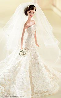 Carolina Herrera - Barbie Collector - Designer Brunette Bride - Platinum Label