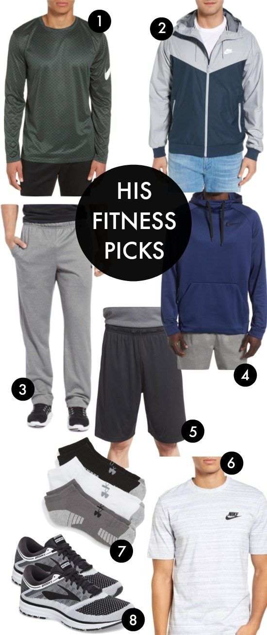 HIS FITNESS PICKS - men's workout clothes. His and Hers- how to avoid holiday weight gain. Honey We're Home #fitness #workoutgear #fitfashion