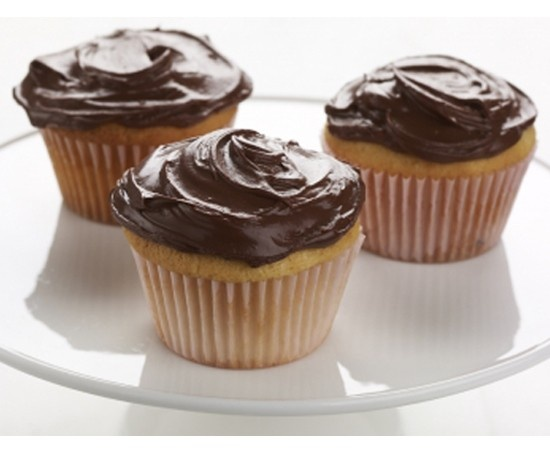 Healthy Chocolate Frosting: 1/2 cup Chobani Low-Fat Greek Yogurt. Melt 1/2 cup Semi-sweet chocolate chips in double boiler or microwave. Cool chocolate to room temperature. Fold in room temperature yogurt