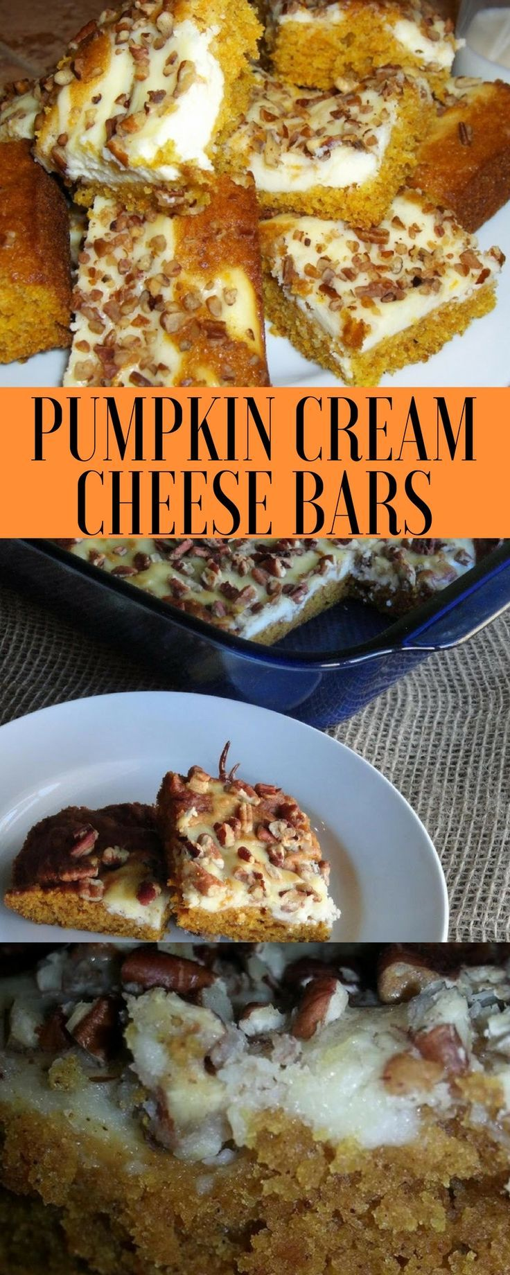 Pumpkin cream cheese bars recipe is ready in just 35 minutes! Easy fall dessert recipe all pumpkin lovers will drool over!
