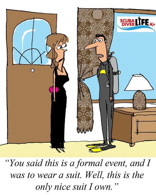 Scuba Cartoon: My Only Suit |