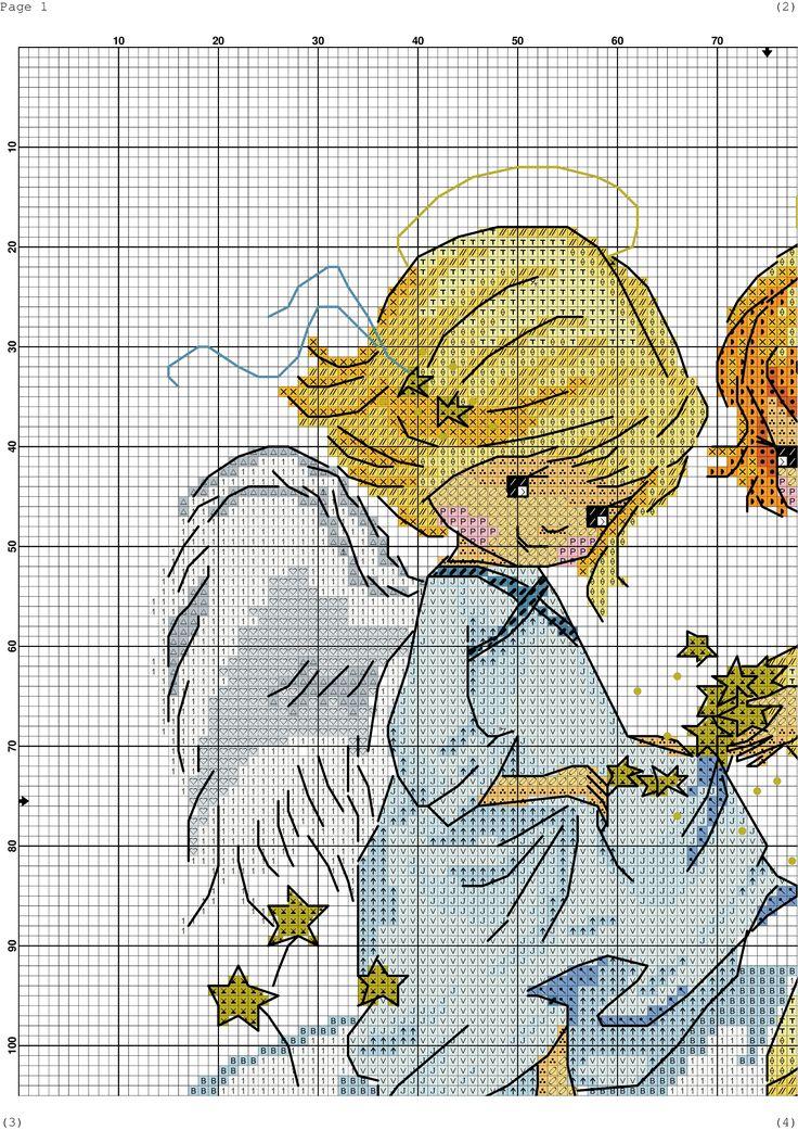 вышивки крестиком ангела схема