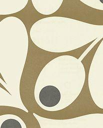 Tapet Multi Acorn Spot Brown från Orla Kiely