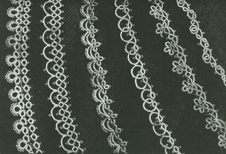 Vintage 1940s Six Handkerchief or Linen Edging Tatting ...