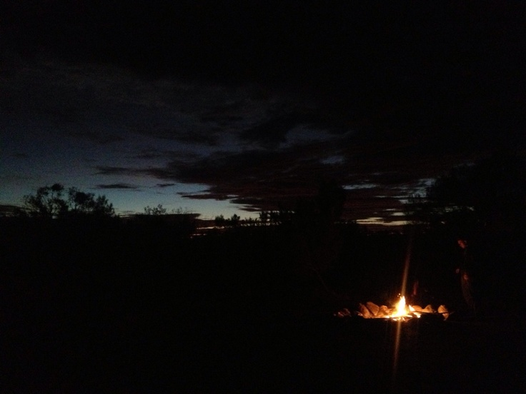 Campfires at sunset. Feels like home in The Outback. #ntaustralia #gadv