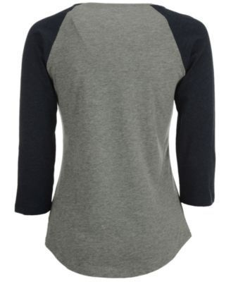 '47 Brand Women's Cleveland Cavaliers Club Block Raglan T-Shirt - Gray L