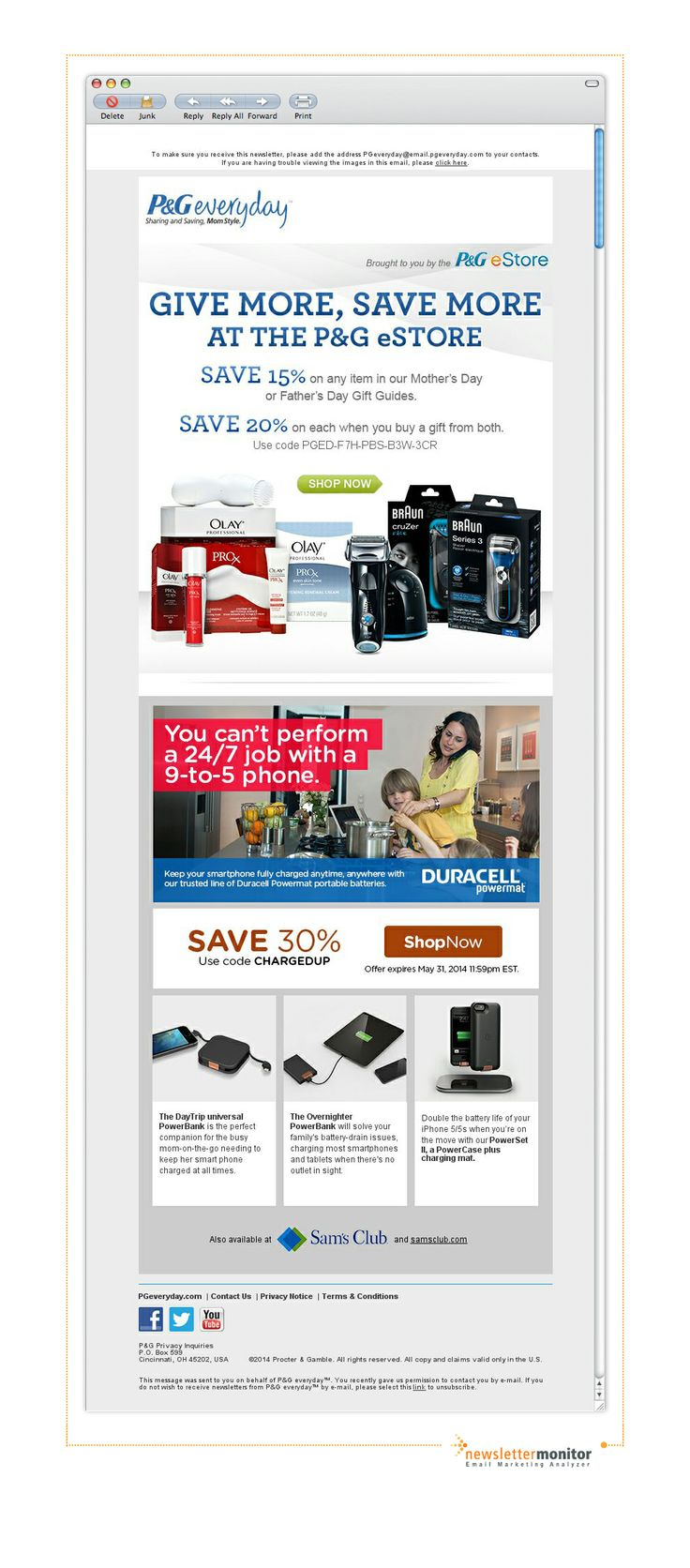 Brand: P&G | Subject: Save up to 30% this Mother's & Father's Day