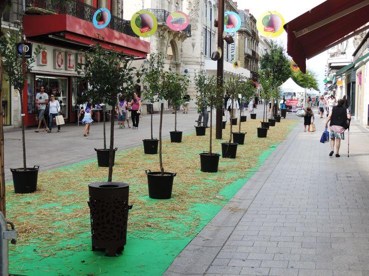 """Le boulevard de la République à #Agen lors de la grande fête annuelle du pruneau, le """"pruneaushow """" ..."""