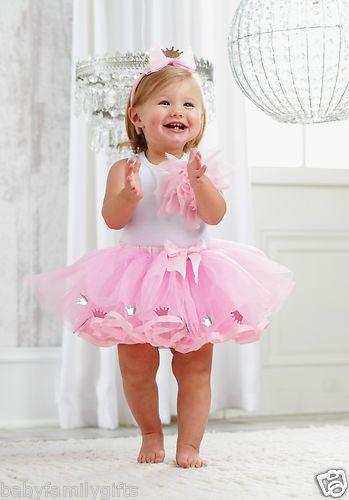 Mud Pie Baby Girl Pretty in Pink Tulle Princess Tutu Set with Headband $34.99 Sold at Baby Family Gifts Ebay