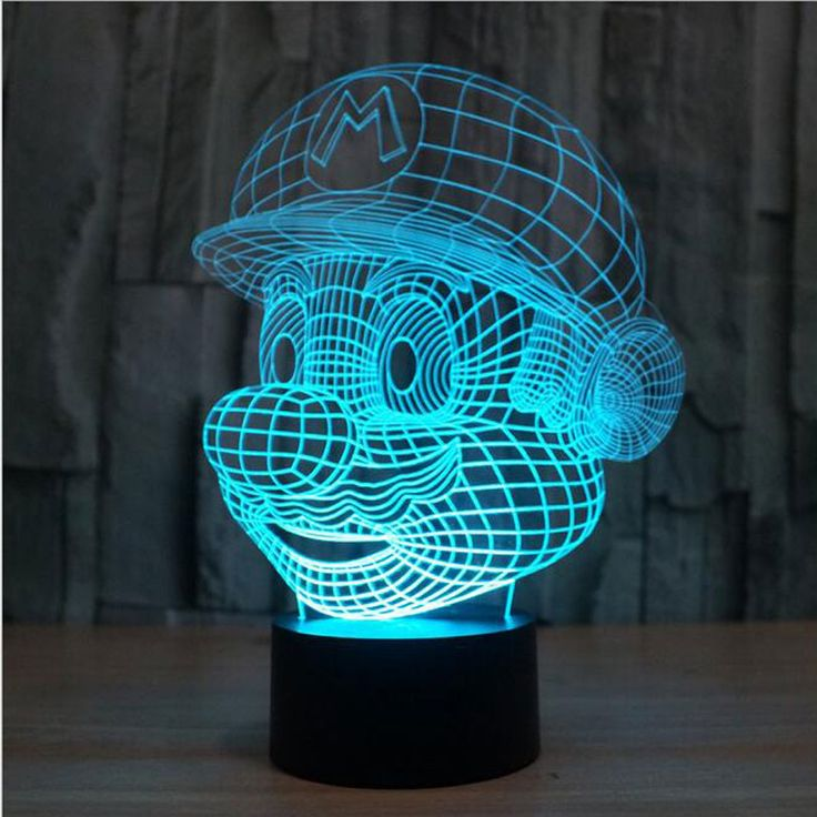 Super Mario Bros LED Illusion Lamp //Price: $29.99 & FREE Shipping //     #hashtag4