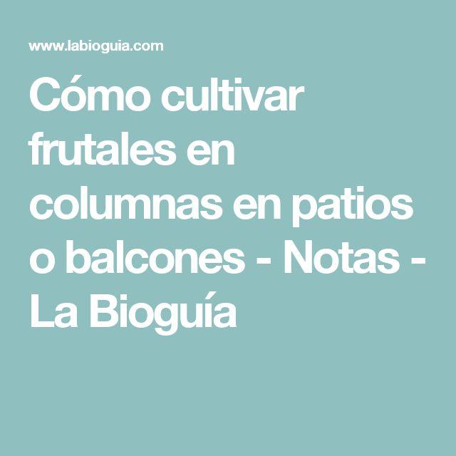 Cómo cultivar frutales en columnas en patios o balcones - Notas - La Bioguía