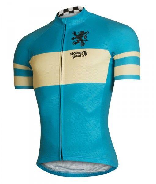 stolen goat Belgian Blue short sleeve cycling jersey side