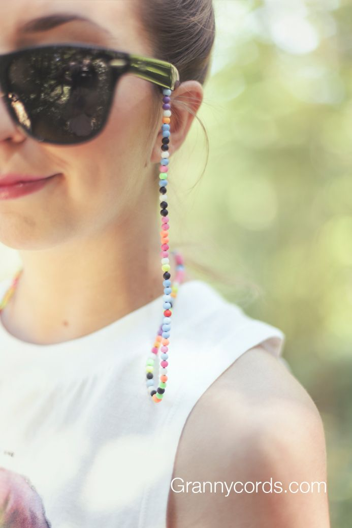 Elisabeth wearing Neon Ranger from our third collection - www.grannycords.com.