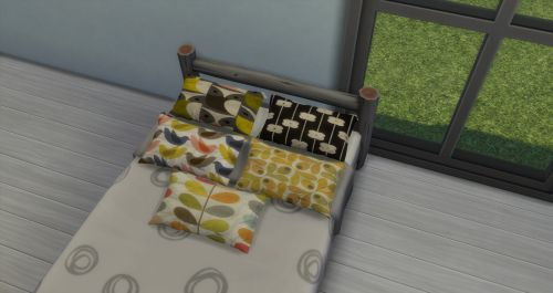 Sims 4 CC's - The Best: Bedroom Blanket & Pillow by ChiLLis Sims