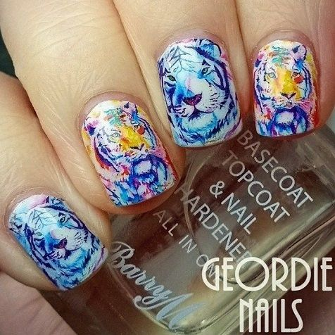 The 25 best tiger nails ideas on pinterest tiger nail art nail design featuring beautiful white tiger nail art water decal wraps only 89p worldwide shipping prinsesfo Images