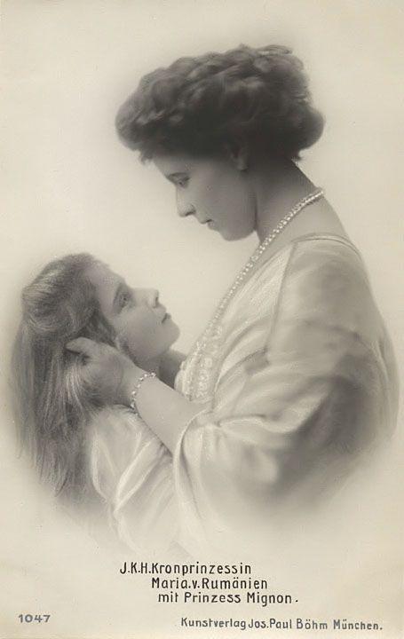Reine Marie de Roumanie et sa fille Marie Mignon