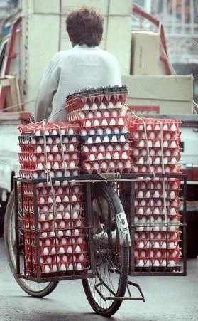 egg bike overload
