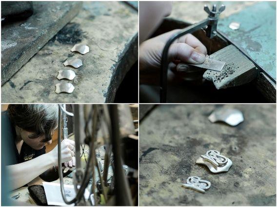 Spinki mankietowe ze srebra. Cufflinks.