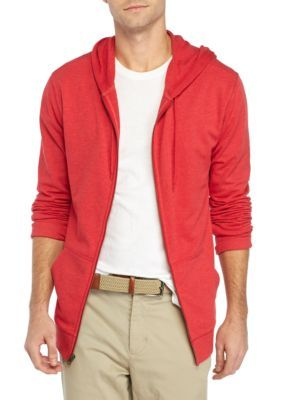 Crown & Ivy™ Men's French Terry Full Zip Hoodie - Radiant Red - 2Xl