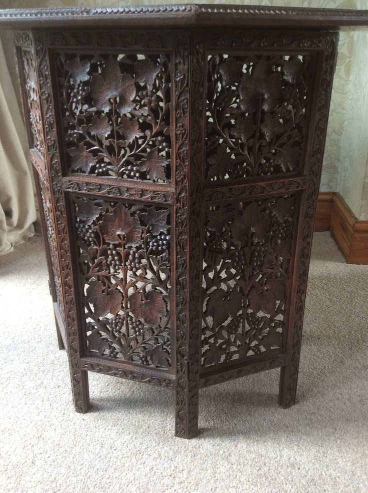Antique Anglo Indian Carved Ornate Folding Table | EBay | Boxes | Pinterest  | Folding Tables