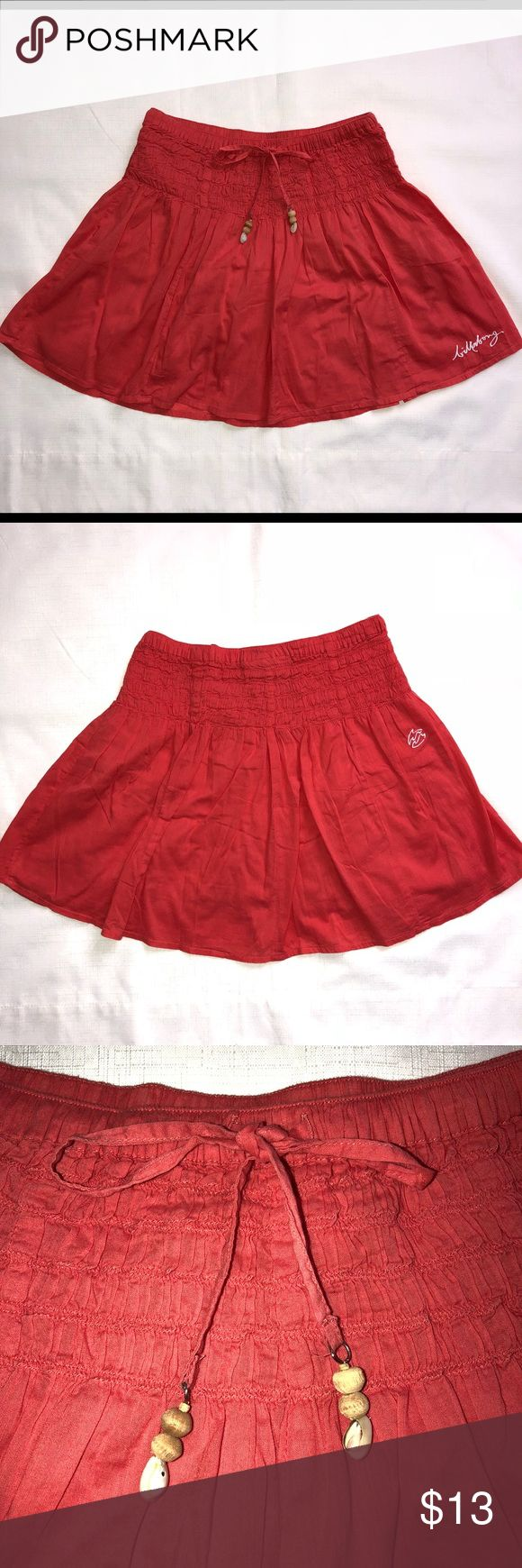 """Billabong Orange Mini Skirt Size S 100% Cotton  Elastic waistband, Fully Lined Waist 24/28"""" Length 14"""" Used Few Times, in great condition  **Broken Shells** Tag Size based on UAE Sizing Billabong Skirts Mini"""