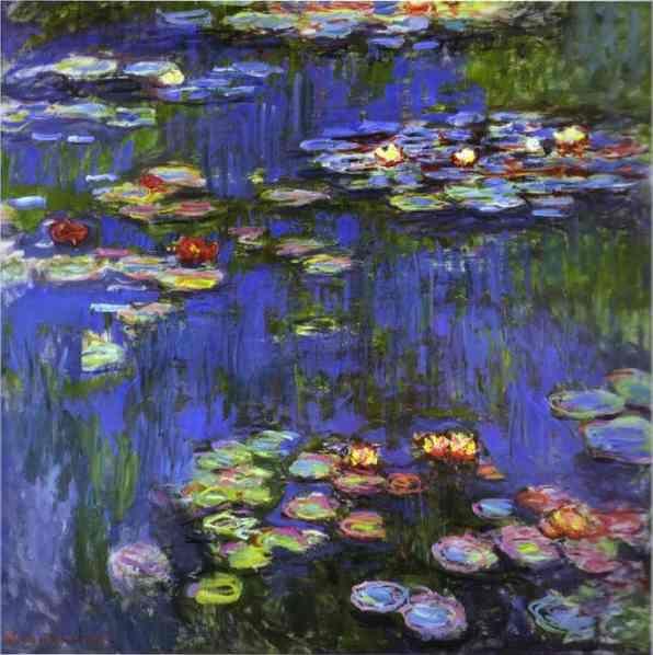 Monet Paintins Giverny   Uno de los cuadros de Monet con las ninfeas de Giverny