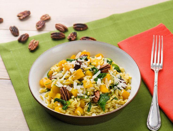 Orzo met pompoen, spinazie en grana padano Recept | HelloFresh