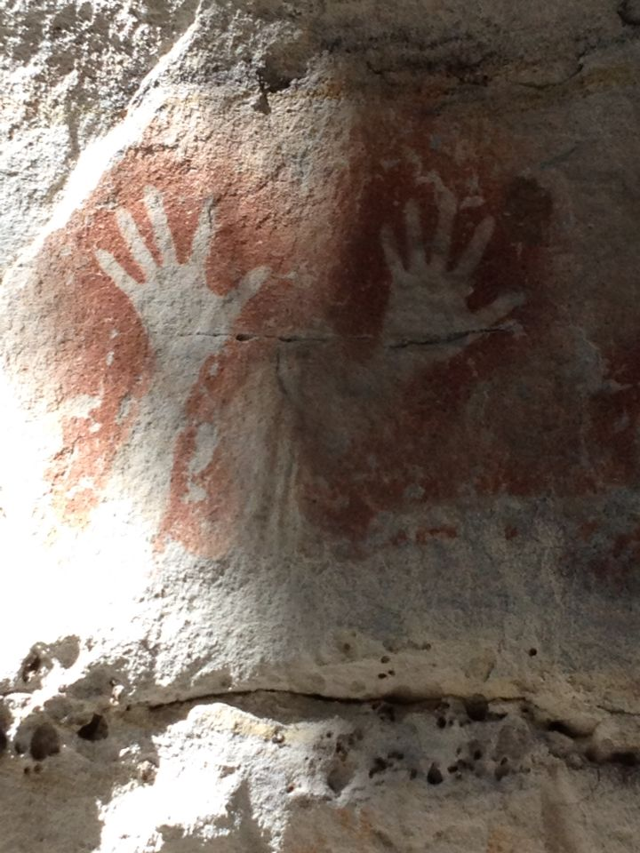 The Art Gallery Canarvon Gorge. Ancient artwork of the indigenous people.
