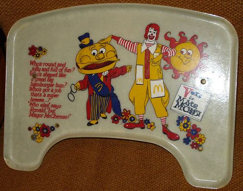 Old school Micky D's highchair tray