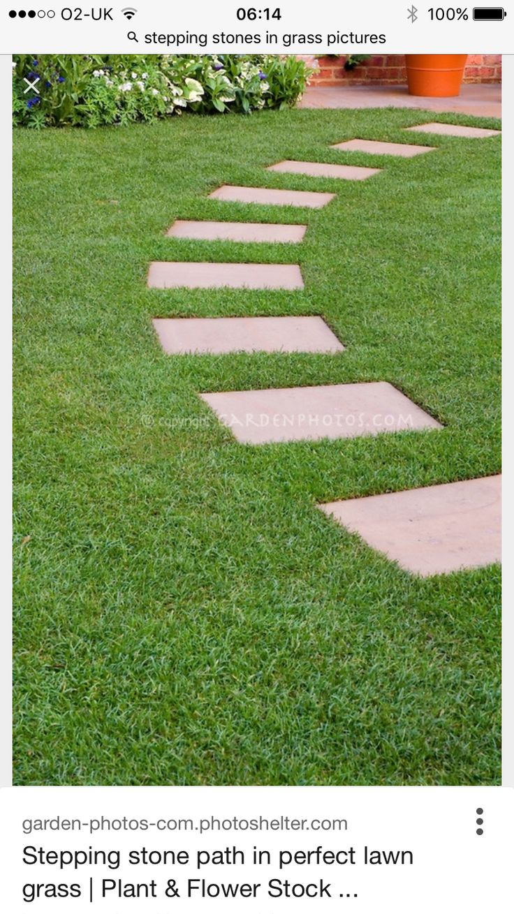square stepping stones garden