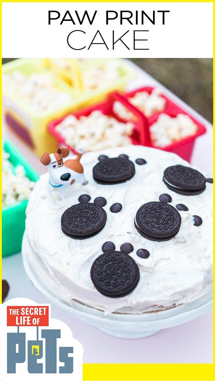 The Secret Life Of Pets Paw Print Cake For Watch Party Petsmovie Birthday Cake For Men Easy Party Food Dessert Secret Life Of Pets